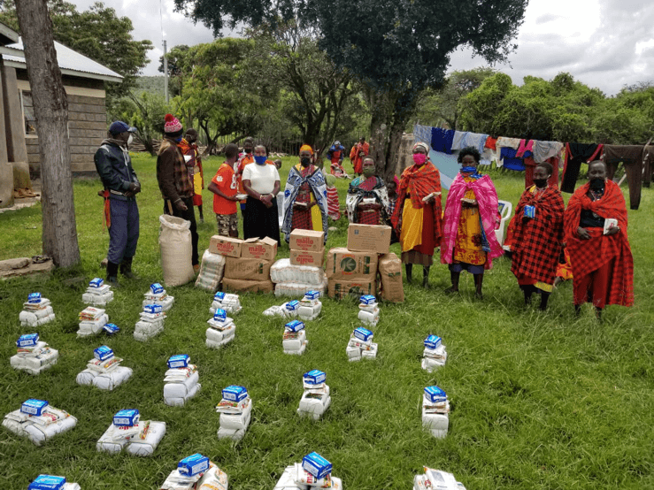 Food relief to Masai Tribes during Covid lockdown