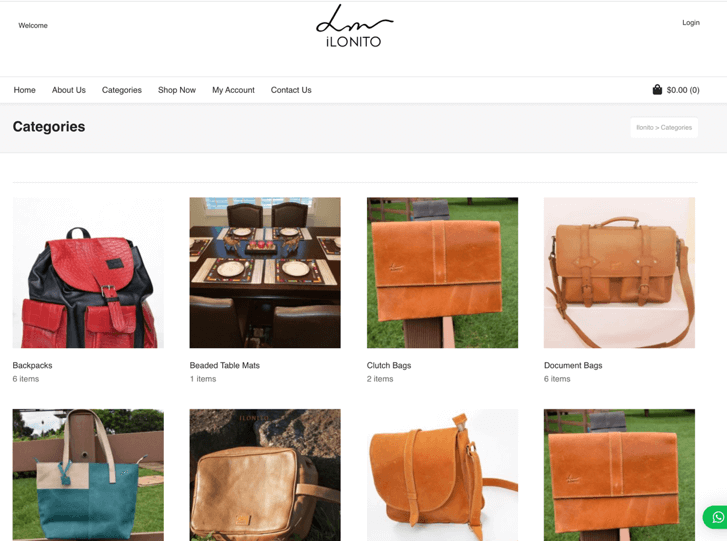 Online shop created by us for the Maasai Tribes in Mara - ilonito.com