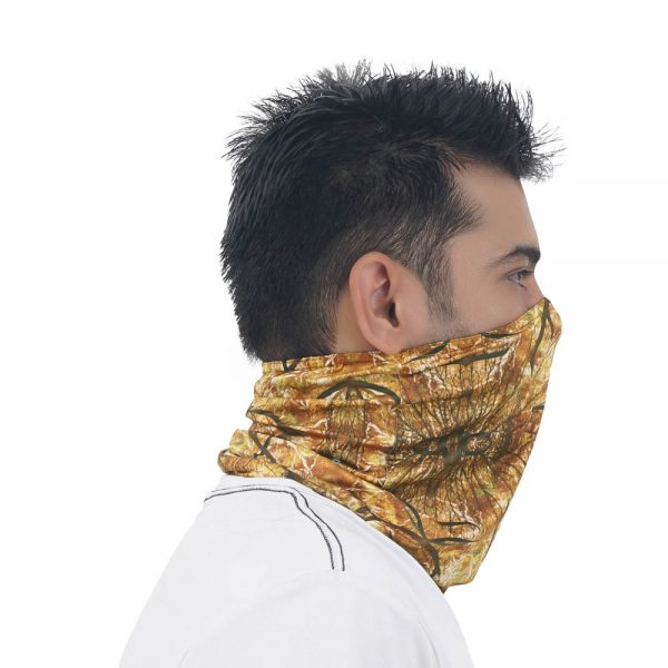 camouflage face and neck mask
