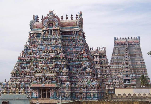 Srirangam Temple or Sri Ranganathaswamy Temple in Trichy Tamil Nadu