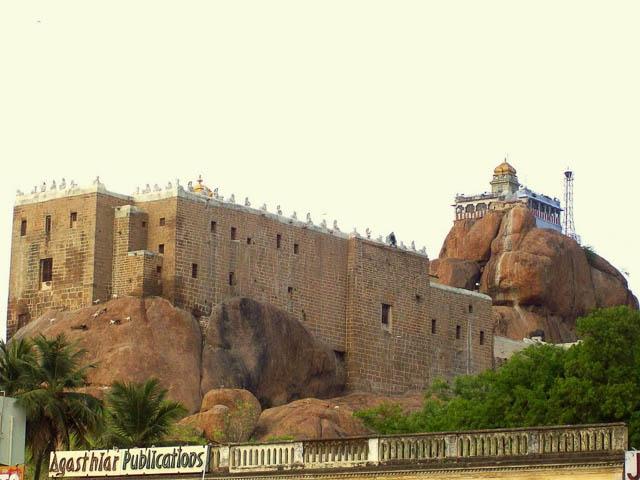 the rock fort temple in Tiruchirapalli, Tamil Nadu
