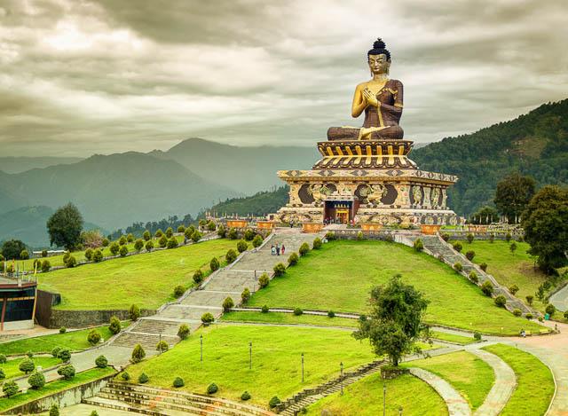 buddha park in ravangla, sikkim