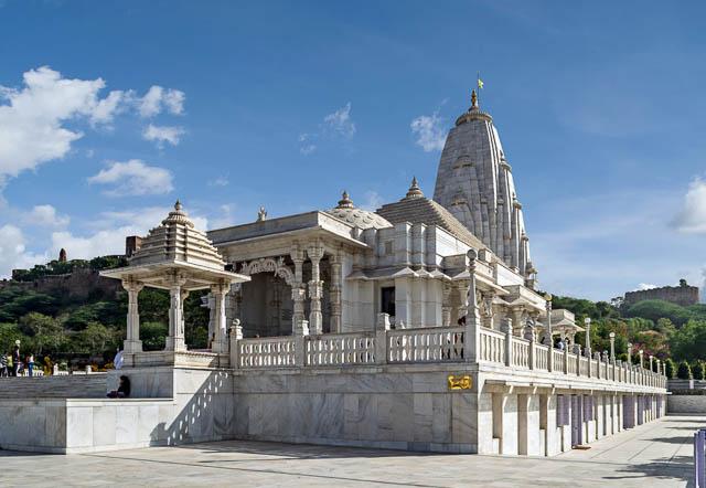 birla temple or laxmi narayan temple in jaipur, rajasthan