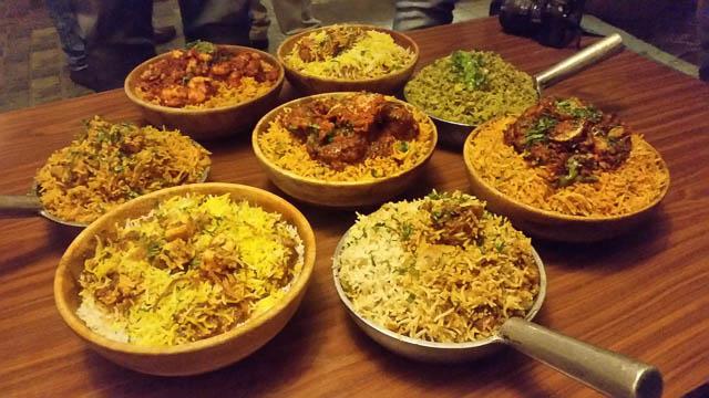hyderabad's special dish biriyani in telangana