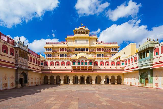 chandra mahal palace or city palace in jaipur, rajasthan