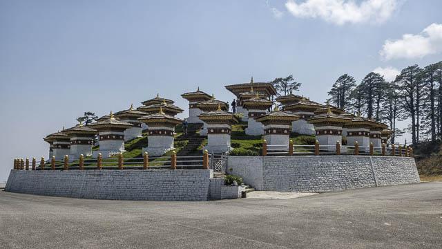 druk wangyal with 108 chortens in dochula pass, punakha, bhutan