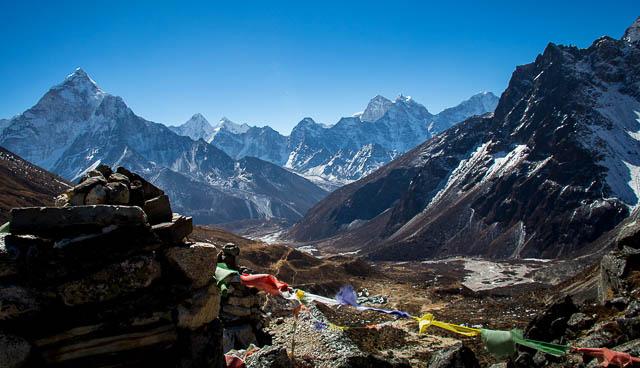 ama dablam base camp in east himalaya, nepal