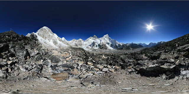 kala patthar in the everest region of nepal