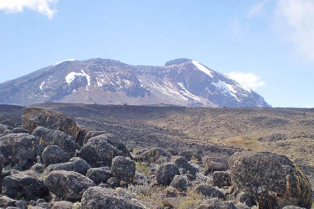 views of mount kilimanjaro while climbing via the lemosho route, tanzania