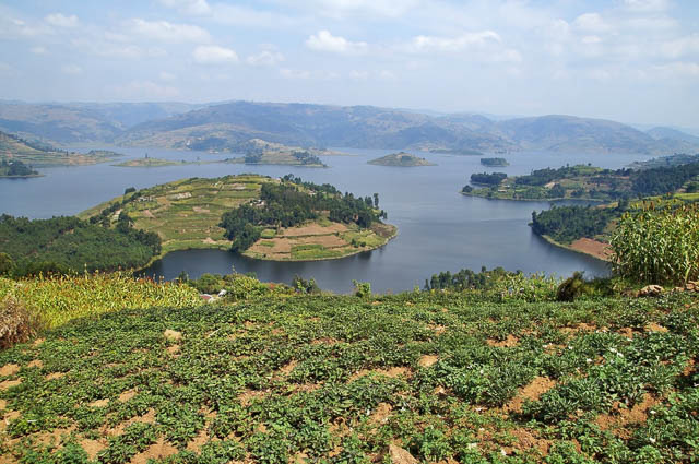 small islands on lake bunyonyi, uganda