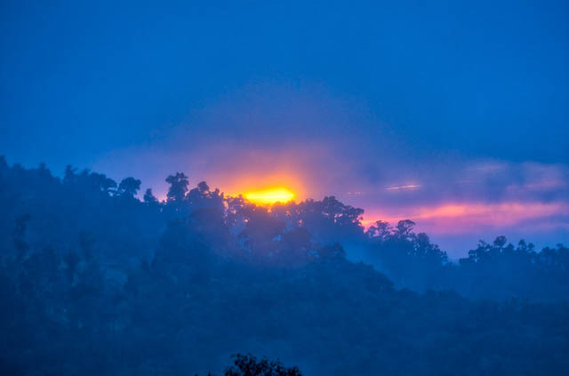 sunrise amdist the jungles of talamanca cloud forests
