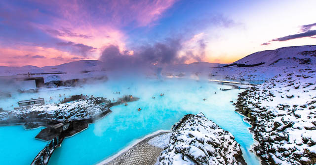 people enjoying at geothermal span in blue lagoon iceland