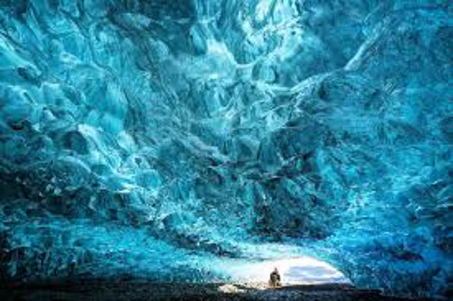 ice cave at ice jokulsarlon iceland