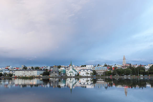 reykjavik city across a water body iceland