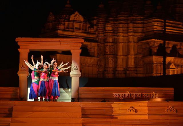 dancers performing at Khajuraho dance festival