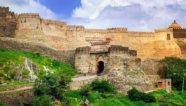 one of the entrance gate of Kumbhalgarh fort Rajasthan India