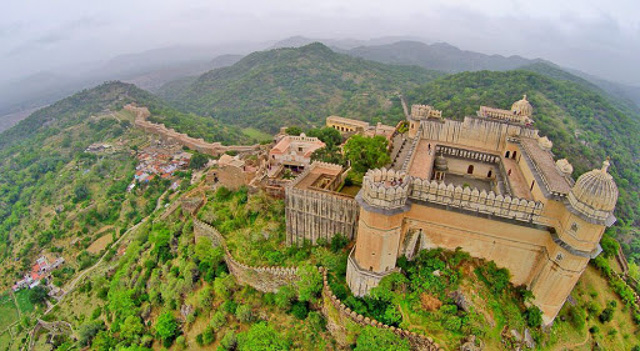 aerial view of kumbhalgarh fort Rajasthan India